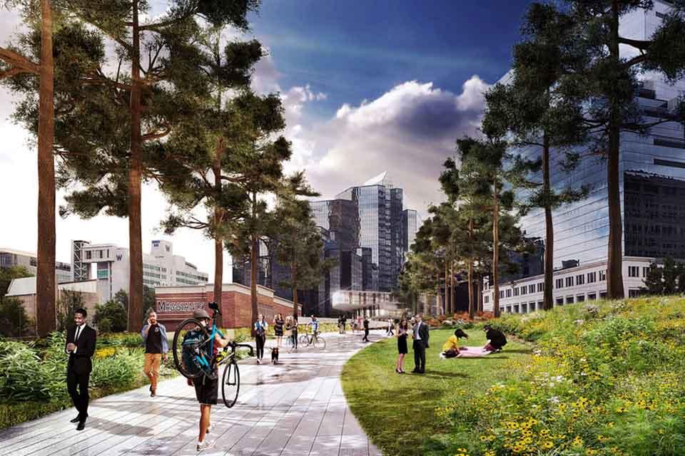Atlanta 39 s park over ga400 rogers partners for 400 garden city plaza