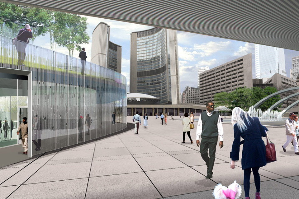 Nathan Phillips Square Competition Toronto landscape Architecture