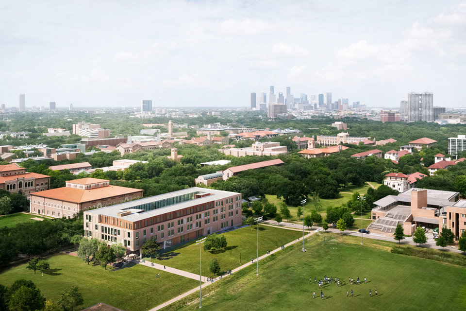 Rice University Kraft Hall Aerial